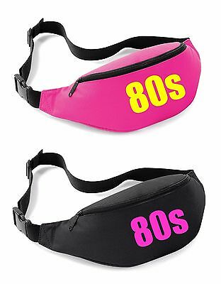 80s Belt Bag - 80's Fancy Dress Costume Outfit Neon Party Bum Waist