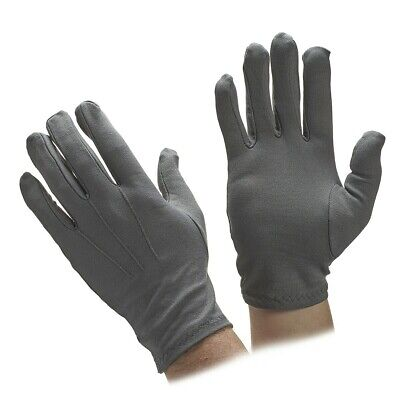 GREY Nylon Formal Tuxedo Gloves NEW Adult One Size
