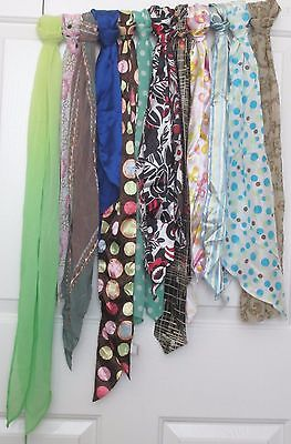 TERRIART Special Lot/40 Asst Long Sashes, Ties, Scarves -Vintage