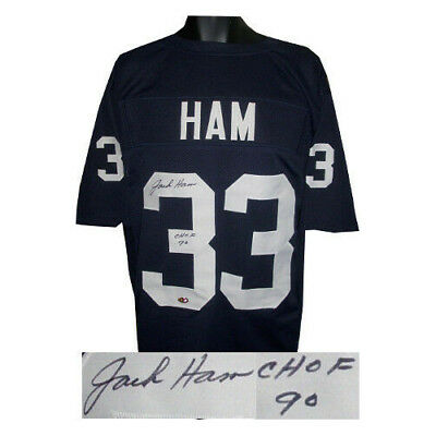 78d723c8295 Jack Ham signed Navy TB Custom Stitched Football Jersey CHOF 90 XL- MAB  HOLOGRAM