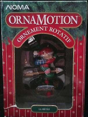 Noma Ornamotion Rotating Ornament Weather Watch 1989 Christmas Ornament