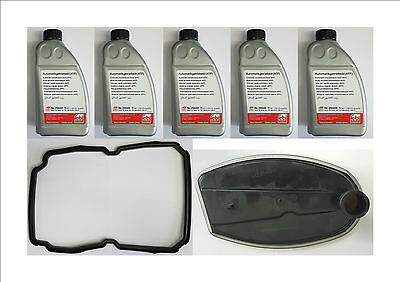 5 X Automatic Auto Gearbox Transmission Atf Oil & Filter/gasket/seal Set/kit