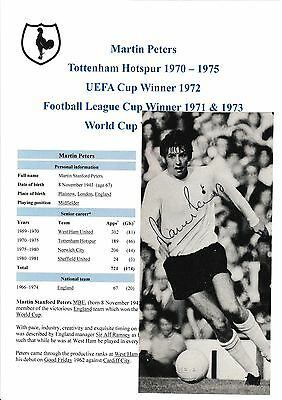 Martin Peters Tottenham Hotspur 1969-1975 Original Hand Signed Annual Picture