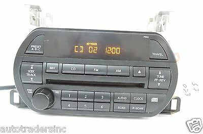 2002 2003 Nissan Altima Am/Fm Radio Cd Player TESTED S7#023