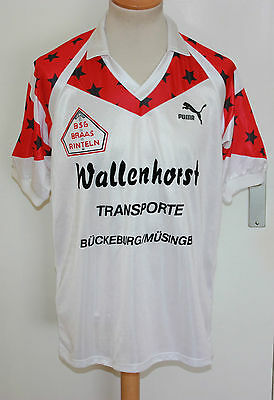 VINTAGE RETRO PUMA 80er TRIKOT BRAAS  L  No 5 WEST GERMANY