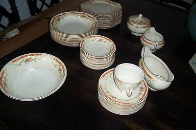 Homer Laughlin Dinnerware Set For 12 (91 Pieces Total) China