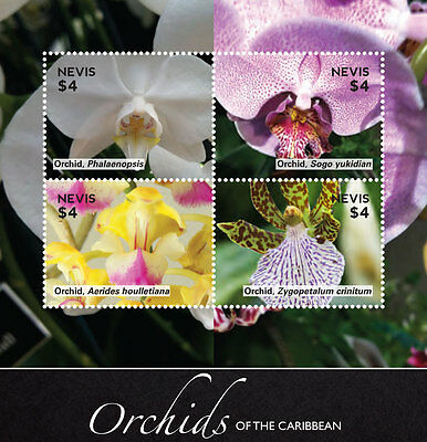 Nevis Stamp 2014 Orchids Of The Caribbean Sheetlet