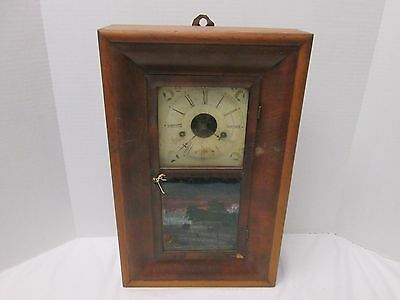 EN Welch Clock Conn. 30 Hour Time and Strike Spring Brass Movement Shelf Clock