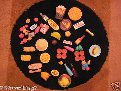 BARBIE DOLL LOT of  Grocery Food Over 30 pieces/Phone/Pizza etc.  GREAT SET!