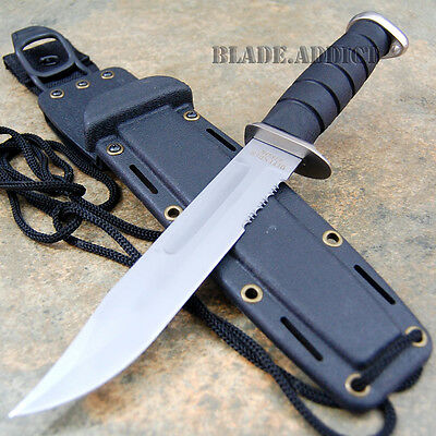 """12"""" Marine Hunting Tactical Military Combat Survival Knife Fixed Blade W2595-T"""