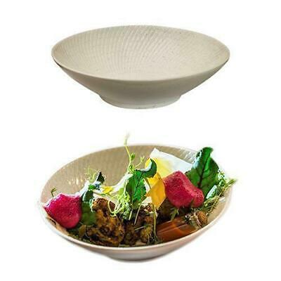6x Round Coupe Bowl, White Swirl, 145mm, Luzerne 'Zen', Commercial Quality