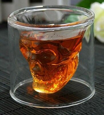 Crystal ey Red Wine Clear Skull Head Shape Drinking Ware Glass Cup Hot - 6A