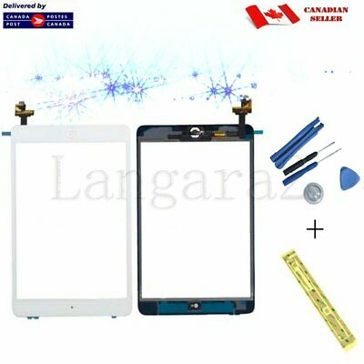 White Replacement for iPad Mini Touch Screen Glass Display Digitizer  IC Chip