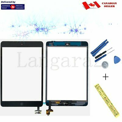 Replacement for iPad Mini Touch Screen Glass Display Digitizer Black +  IC Clips