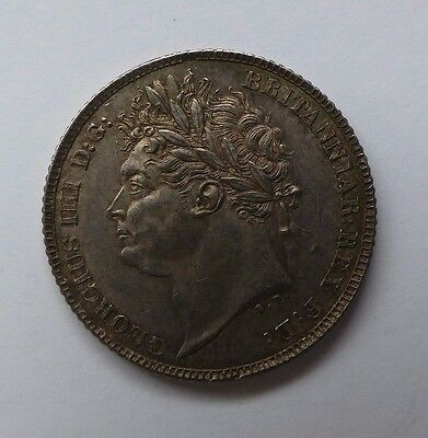 1821 George Iv Sixpence Toned And Gef