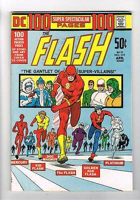Flash # 214 Gauntlet of Super-Villains! 100 Page  grade 7.5 scarce hot book !!