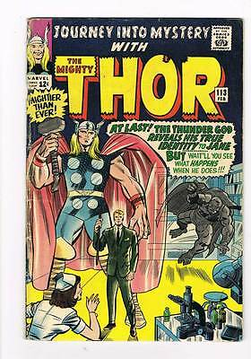 Journey into Mystery # 113 Kirby Thor grade 4.0 - movie super scarce hot book !!