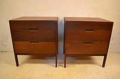 STUNNING PAIR VINTAGE TEAK RICHARD HORNBY CHEST OF DRAWERS