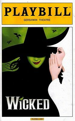 Wicked Broadway Playbill New Art Cover - Justin Guarini, Christine Dwyer