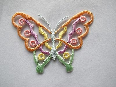 #3994 Orange,Yellow Butterfly Embroidery Iron On Applique Patch