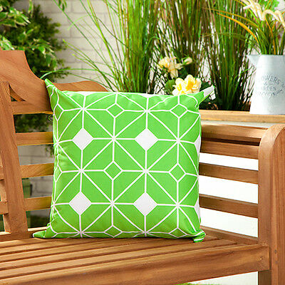 Tangiers Lime Waterproof Canvas Outdoor Scatter Garden Filled Cushion Printed