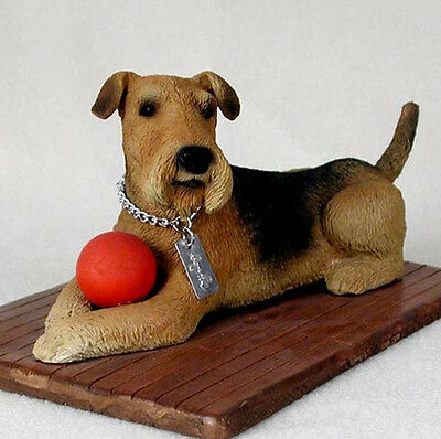 AIREDALE TERRIER  MY  DOG  Figurine Statue Pet Lovers Gift Resin Hand Painted