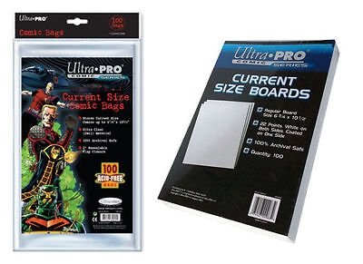 Ultra Pro Comic Current Size 100 Bags and 100 Boards Ultra Pro Combo Set