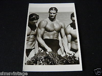 Unusual Weird Postcard Men With Kelp Paradise Cove 1987 by Herbert Ritts
