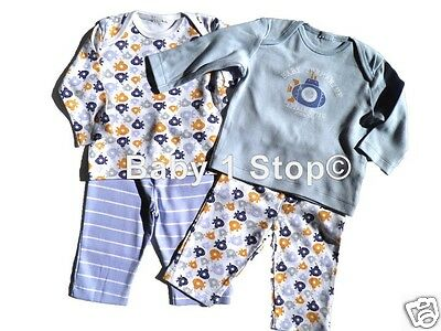 2 Pack Baby Boys Cotton Pyjamas Mix & Match 0-3 3-6 6-9 9-12 12-18 18-24 Months