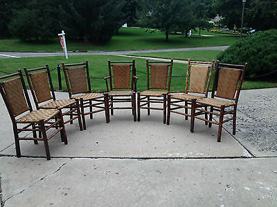Old Hickory Chairs Signed With Original Rush
