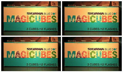 NEW Sylvania 18 Flash Cubes BLUE DOT MAGICUBES Vintage Camera 6 BOXES 6x3 91242