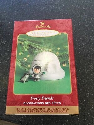 Fine Porcelain and Fine Pewter Hallmark Frosty Friends Ornament 2000