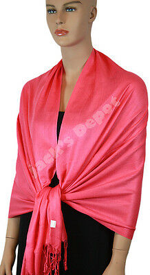 New Pashmina Scarf Shawl Wrap Cape Cashmere Silk Wool More Design & Color 111-17