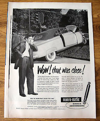 1959 Monro-matic Shocks Absorbers Ad  Auto Accident