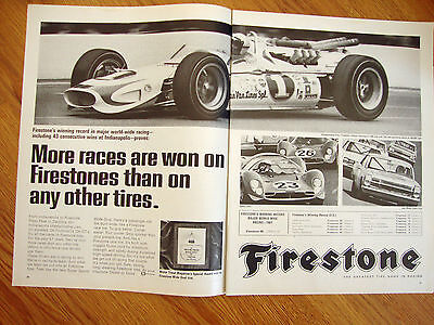 1967 Firestone Tire Ad     Indianapolis Indy 500