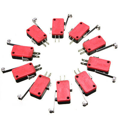 10pcs Microswitch 15A V-156-1C25 pin plunger  action (SPDT Micro Switch) WS