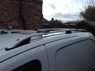 Vw Caddy Aluminium Roof Rail Bars Racks Set + Cross Bars 2010 Onward