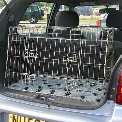 Nissan Juke Sloping Car Dog Cage Boot Travel Crate Puppy Guard