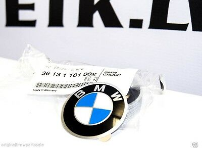 GENUINE BMW STEERING WHEEL Emblem 45mm Adhesive 1 3 5 6 7 Z3 Z4 X5 36131181082