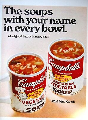 1968 campbell soup magazine ad