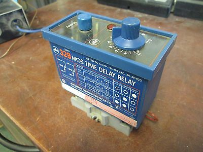 ATC 328 MOS Time Delay Relay 7A 1/6HP 125-250VAC 3A@30VDC Used