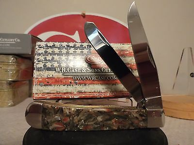 Case XX 1 of 100 Chipped Abalone #32 SFO Limited Edition Trapper Knife, Nice