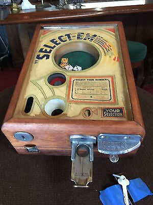 """1934 EXHIBIT SUPPLY Co. """"Select Em"""" Dice Coin Operated Trade Stimulator"""