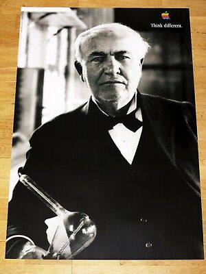 APPLE THINK DIFFERENT POSTER - THOMAS EDISON / 24 x 36 by STEVE JOBS 91 x 61 cm