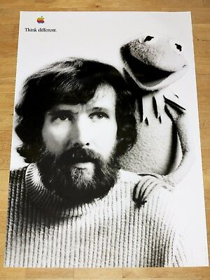 APPLE THINK DIFFERENT POSTER - JIM HENSON / 24 x 36 by STEVE JOBS 61 x 91 CM