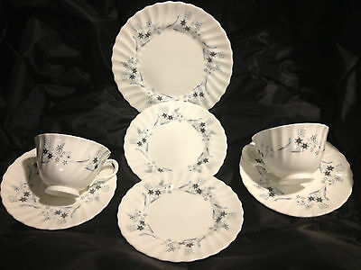 Royal Doulton Millefleur-H4953 White7 Pcs Total-2ea.Cups, Saucers,B&B and 1salad