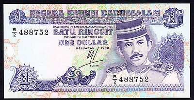Brunei 1 Ringgit  1989  P. 13  GEM UNC Note