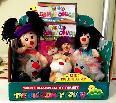 The Big Comfy Couch Plush Set Target Exclusive NIB with 2 DVDs Loonette Molly