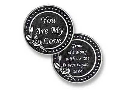 YOU ARE MY LOVE - Female, Pocket Token With Message, 31mm Diameter, Metal