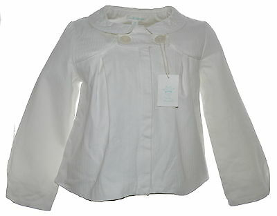 Marie Chantal Ivory Herringbone Pea Coat NWOT Age 8